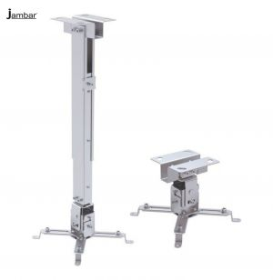 Buy Jambar 3 Ft Projector Ceiling Mount Kit For Led/ Lcd/ Dlp Projector Heavy Weight Capacity 1.5 Ft Adjustable online