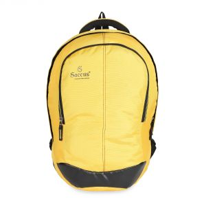 Buy Laptop Yellow Backpack With Pu 25 L Laptop Backpack - Yellow online