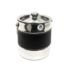 Buy Graminheet Stainless Steel Ice Bucket 1500ml With Leather Belt online