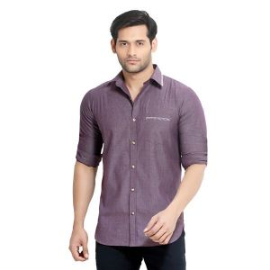 Buy London Bee Men's Solid Cotton Slim Fit Shirt- (product Code - Mlslb0071) online