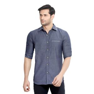 Buy London Bee Men's Solid Cotton Slim Fit Shirt- (product Code - Mlslb0069) online