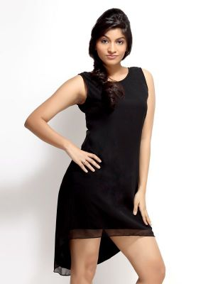 Buy Loco En Cabeza Black Sleeveless Short Dress For Women - (product Code - Czwd0016) online