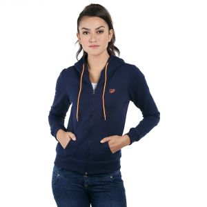 Buy Loco En Cabeza Navy Cotton Fleece Long Sleeve Hoodie (code - Czwh0005) online