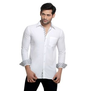 Buy London Bee Men's Solid Cotton Slim Fit Shirt- (product Code - Mlslb0051) online