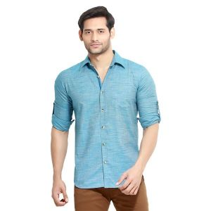 Buy London Bee Men's Solid Cotton Slim Fit Shirt- (product Code - Mlslb0052) online