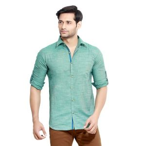 Buy London Bee Men's Solid Cotton Slim Fit Shirt- (product Code - Mlslb0054) online