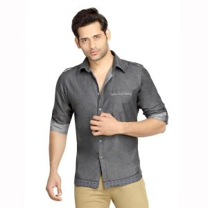 Buy London Bee Men's Solid Cotton Long Sleeve Slim Fit Shirt - ( Product Code - Mlslb0080 ) online