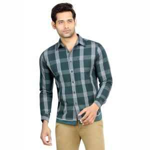 Buy London Bee Men's Cotton Checks Long Sleeve Slim Fit Shirt - ( Product Code - Mlslb0083 ) online