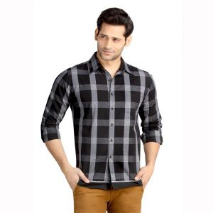 Buy London Bee Men's Cotton Checks Long Sleeve Slim Fit Shirt - ( Product Code - Mlslb0093 ) online