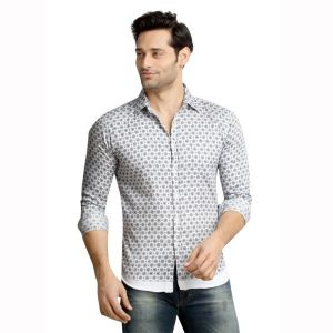 Buy London Bee Men's Printed Long Sleeve Slim Fit Shirt - ( Product Code - Mlslb0101 ) online