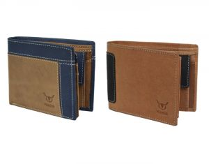 Buy Hidelink Men Multicolor Genuine Leather Wallet (swp9032) online