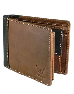 Buy Hidelink Men Formal Brown Genuine Leather Wallet (sw4023) online