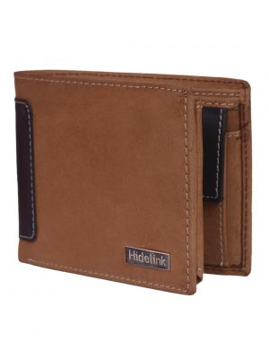 Buy Hidelink Men Tan Genuine Leather Wallet (swp4124) online