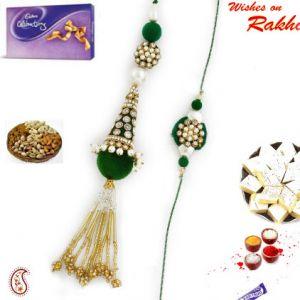 Buy Rakhi Online - Graceful Bhaiya Bhabhi Rakhi Set online
