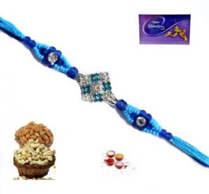 Buy Rakhi Online - Blue Stone Jercan Rakhi online