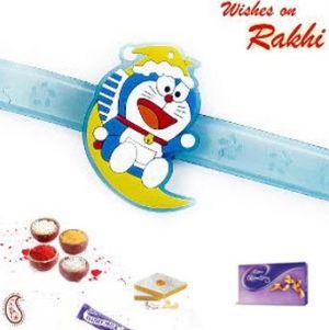 Buy Kids Rakhi - Doremon Lighting Rakhi online