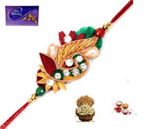Buy Rakhi Online - Zardosi Rakhi For Brother online