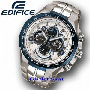Buy Casio White And Blue Dial With Silver Chain Watch For Men online