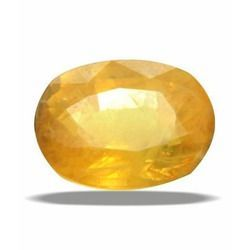 Buy 11.25 Ratti Natural Certified And Yellow Sapphire Stone online