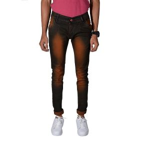 Buy Noori Garment Brown Denim Jeans online