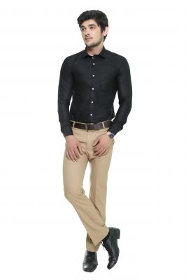 Buy Nimegh Black Colored Cotton Casual Solid Shirt For Men's online