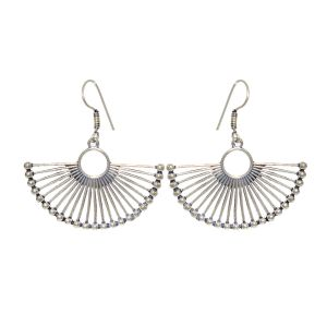 Buy Sparkle Oxidized Plated Earrings (code - Er-006-10-17) online