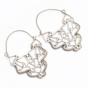 Buy Sparkle Silver Oxidized Plated Earrings(code - Er-002) online