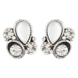 Firstblush Diva Style Silver Crystal And Stone Clip On Earrings For Non Pierced Ears Unpierced Online Best Prices In India Rediff Ping
