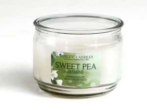 Buy Hosley Sweet Pea Jasmine Highly Fragrance 2 Wick 10 Oz Wax Small Glass Candle Jar online