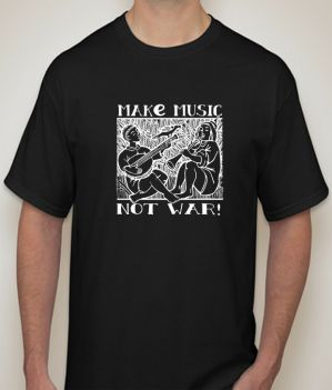 Buy Make music Black   T-shirt for Men online