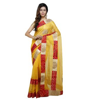 Buy Vedika Creations Multi Colour Supernet Saree Fancy Sari(code-vcncdsss-30) online