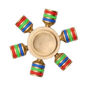 Buy Wheel Power Brass Golder Tri Hand Fidget Spinner online
