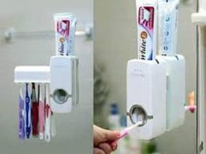 Buy Automatic Toothpaste Dispenser With Brush Holder online