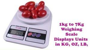 Buy Gadget Hero's Kitchen Weighing Scale 1g To 7kg. Units In Kg Oz Ct Lb online
