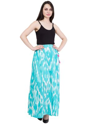Buy Hive91 Printed Regular A line  Blue skirts for Women online