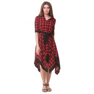 Buy Hive91 Women's Wrap Red, Black Dress online