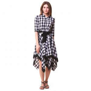 Buy Hive91 Women's Wrap Black & White Dress online