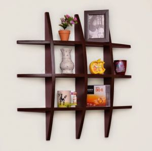 Buy Woodworld Home Decor Globe Shape Brown Floating Wall Shelves Rack online