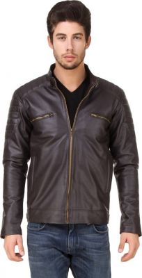 Buy Ajeraa Men's Solid Full Sleeves Zipper Jacket online