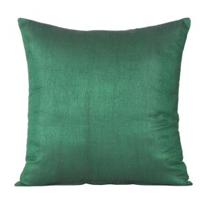 Buy Monogram Dark Green Square Polyester Cushion Cover Solid-5 Pcs SetDark Green online