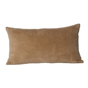 Buy Monogram Camel Rectangular Cotton Cushion Cover with Embroidery-5 Pcs SetCamel online