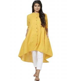 Buy Westside Plain Yellow Kurti online