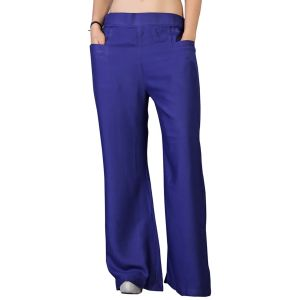 Buy Vedik Style Womens Solid Navy Blue Regular Fit Palazzos online