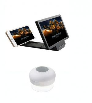 Buy White Shower Bluetooth Speaker With 3d Folding HD Screen Magnifier-white online
