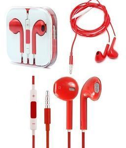 Buy Apple iPhone Handsfree With Remote And Mic (red) online