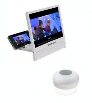 Buy White Shower Bluetooth Speaker With 3d Folding HD Screen Magnifier online