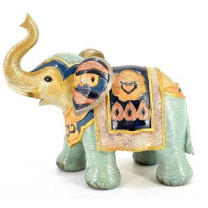 Buy Colored Elephant Polyresin Home Decoration Show Piece online