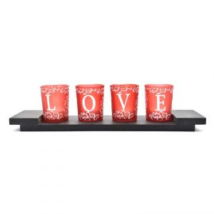 Buy Love 4pc LED Light With Base For Home Dcor online