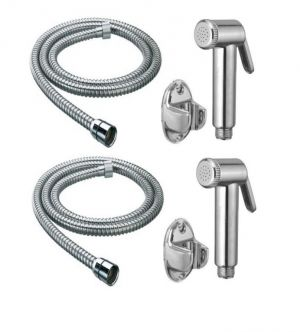 Buy Shoppingekart Jaquar Health Faucet With 1 Meter S.S Tube And Wall Hook (Pack of 2) online