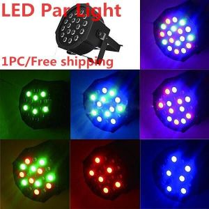 Buy Best Seller!18*1w LED Flat/slim Par LED Stage Light Rgb LED Par Party Light Disco With Dmx512 Par LED 3w Dj Light Equipments online